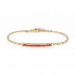 14k Yellow Gold and Orange Sapphire Bracelet