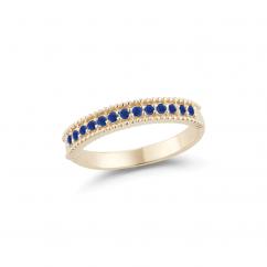 Barbela Design Barcelona 14k Gold and Sapphire Ring
