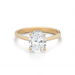 18k Yellow Gold and Oval 2.01CT Diamond Engagement Ring GIA Certified