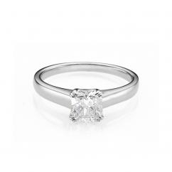 Hamilton Cherish Solitaire 18k Gold and .75CT Cushion Diamond Ring