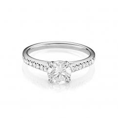 Hamilton Cherish Micro Prong 18k Gold and 1.00CT Diamond Ring