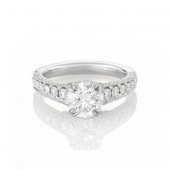 Heritage Platinum and Diamond 1.51 ct Engagement Ring