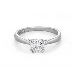 Hamilton Centennial Platinum and 1.01CT Diamond Engagement Ring