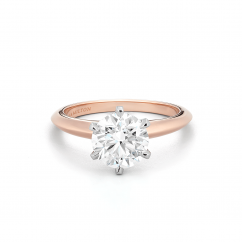 Embrace 18k Rose Gold Engagement Ring For Round Diamond