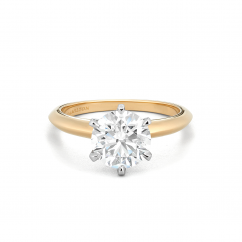Embrace 18k Yellow Gold Engagement Ring For Round Diamond