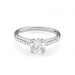 Hamilton Cherish Micro Prong 18k Gold and .50CT Diamond Ring