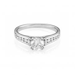 Hamilton Cherish Channel Set 18k Gold and .50CT Round Diamond Ring