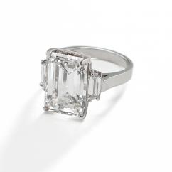 Platinum and Radiant Diamond Ring