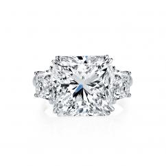 Private Reserve Platinum Three Stone Diamond Ring
