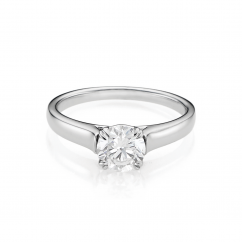 Hamilton Cherish Solitaire 18k Gold and .75CT Diamond Ring