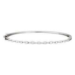 Wave 18k White Gold Diamond Bracelet