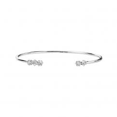 Classic Diamond and 18k White Gold Bracelet