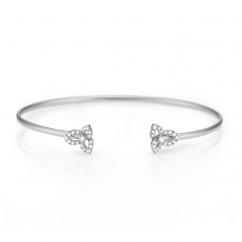 Fleur 18k White Gold and Diamond Bracelet