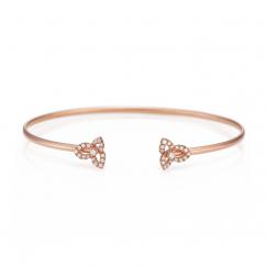 Fleur 18k Rose Gold and Diamond Bracelet