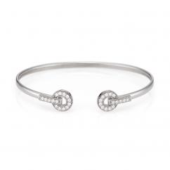 Hamilton Eternity 18k White Gold and Diamond Bracelet