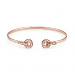 Hamilton Eternity 18k Rose Gold and Diamond Bracelet