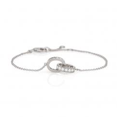Hamilton Eternity Diamond and 18k White Gold Bracelet