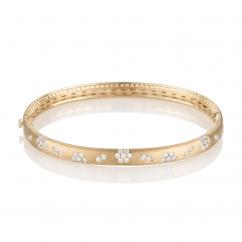 Fleur Diamond and 18k Gold Bracelet