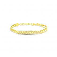 14k Yellow Gold and Diamond ID Bracelet