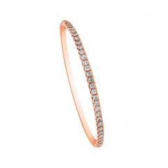 18k Rose Gold and 1.99TW Diamond Bangle Bracelet
