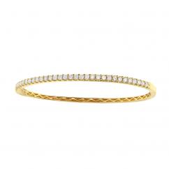 Classic Diamond and 18k Yellow Gold Bracelet