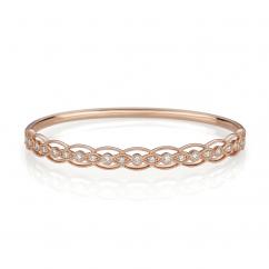 Heritage 18k Rose Gold and .52TW Bangle Bracelet