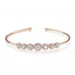 Boundless 18k Rose and 7 Diamond Cuff Bracelet