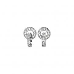 Hamilton 18k White Gold and Diamond Eternity Earrings