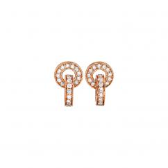 Hamilton 18k Rose Gold and Diamond Eternity Earrings