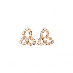 Fleur 18k Rose Gold and Diamond Earrings