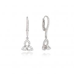 Fleur 18k Gold and Diamond Drop Earrings