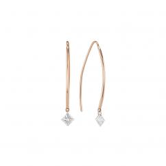 Darling 18k Rose Gold and Diamond Earrings