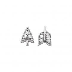 Barbela Design 14k Gold and Diamond Broken Arrow Earrings