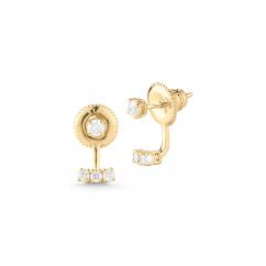 Barbela Design 14k Gold and Diamond Flare Earring Jackets
