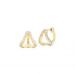 Barbela Design 14k Gold Lexy Diamond Earrings