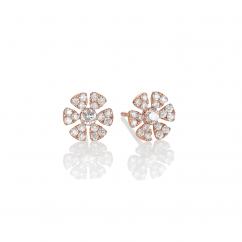 Fleur 18k Rose Gold and .51ct Diamond Stud Earrings
