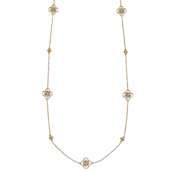 Arabesque 18k Gold and Diamond 36 Inch Necklace