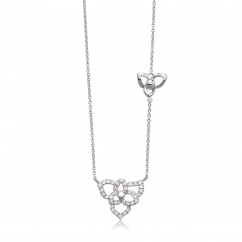 Fleur 18k White Gold and Diamond Pendant