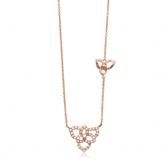 Fleur 18k Rose Gold and Diamond Pendant