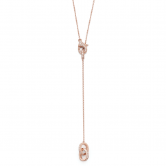Hamilton Eternity 18k Rose Gold and Diamond 30 Inch Necklace