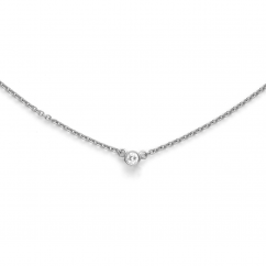 Classic 14k White Gold and Diamond Pendant