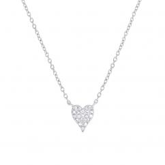 Classic 14k White Gold and .05ct Diamond Pendant