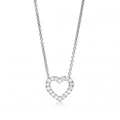 Classic 18k Gold Diamond Heart Pendant