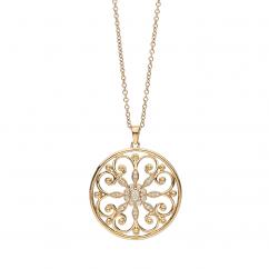 Arabesque 18k Gold and Diamond Pendant