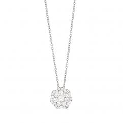 Celestial 14k White Gold and .50 Carat Diamond Pendant