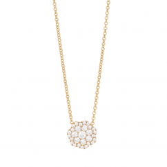 Celestial 14k Yellow Gold and Diamond Pendant