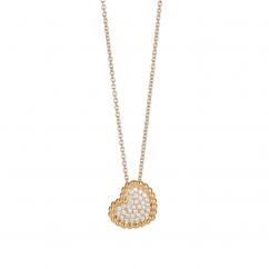 1970's 18k Gold and Diamond Heart Pendant