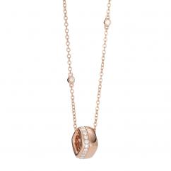 Mercer 18k Rose Gold and Diamond Pendant