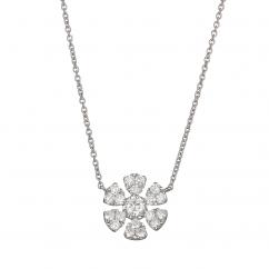Fleur 18k Gold and .43 CT Diamond Pendant