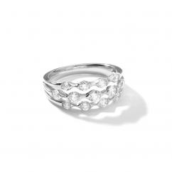 Wave 18k White Gold Diamond Ring